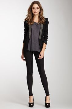 love the leggings. love the blazer.