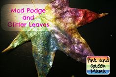 Glitter & Glue Leaves - press leaves to flatten and dry them, then coat them with mod podge or watered-down glue and cover them with glitter. Description from pinterest.com. I searched for this on bing.com/images