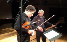 Milano, September 2014 - Recording session -  Danilo Rossi, viola - Marco Rizzi, violin - PHOTO 2 - www.limenmusic.info