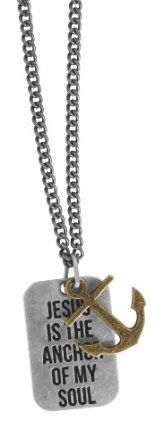 Jesus is the Anchor - Guys Christian Necklace