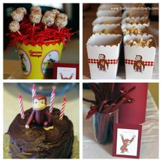 For Cheryl - Curious George party!  Some different ideas.  www.karaspartyideas.com