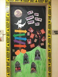 My Nightmare Before Christmas door for Halloween! | School ...