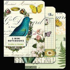 Flora and fauna mini notebooks