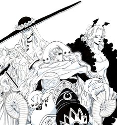 Big Mom Crew Pirates Demon Lady Charlotte Amande Smoothie Galette One Piece Character Design, Manga Games, Anime Fan, Bleach Art, Anime, Sonic Fan Art, Cartoons Comics, One Piece Big Mom, Fan Art