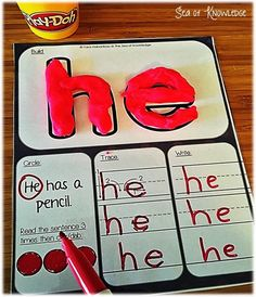 40 Sight word play doh mats + editable templates for adding more words! The Effective Pictures We Offer You About Montessori Activities newborn A quality picture can tell you many things. You can find Teaching Sight Words, Sight Word Practice, Sight Word Games, Word Play, Sight Word Wall, Sight Word Centers, Word Work Centers, Reading Centers, Sight Word Activities