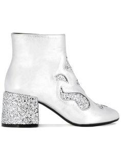 cf3d1da81e2f0 Mm6 Maison Margiela Glitter Ankle Boots - Farfetch