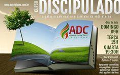 Campanha de divulgação digital para curso de Discípulado da AD Criciúma.