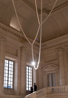 Bouroullec for Swarovski in Versailles, Paris. The Gabriel Chandelier.