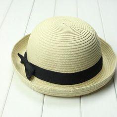 Straw hat suppliers: Korean brimmed straw hat flip