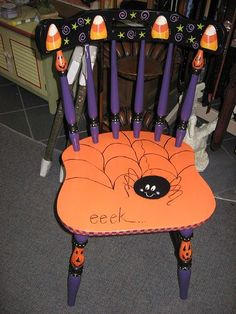 Halloween themed chair...