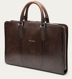 Santoni Laptop bag dark brown