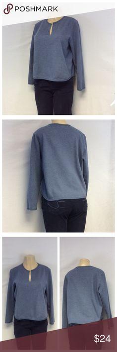 "LIZ CLAIBORNE Pullover Top LIZ CLAIBORNE Blue Pullover V-neck Top, Size M, 91% cotton, 9% polyester, machine wash. Approximate measurements are 21"" shoulder to hem, 21"" bust laying flat, 16"" shoulder seam to shoulder seam, 22"" sleeve from shoulder to end of sleeve. 0133 Liz Claiborne Tops"