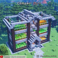 Minecraft Farmen, Minecraft Mansion, Minecraft Cottage, Easy Minecraft Houses, Minecraft House Tutorials, Minecraft House Designs, Minecraft Survival, Minecraft Construction, Amazing Minecraft