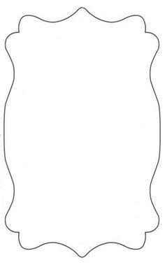Bracket frame pattern. Use the printable outline for ...