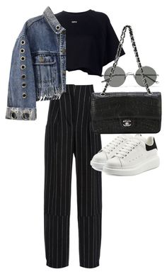 """Untitled #21894"" by florencia95 ❤ liked on Polyvore featuring Maiyet, Sunday Somewhere, Off-White, Alexander McQueen and Chanel"