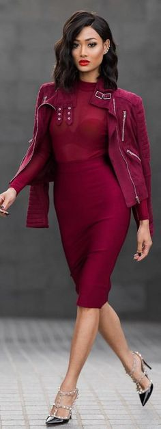 Wine time / Dress & jacket from @hotmiamistyles - Fashion by Miicah Gianneli #fashion