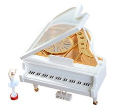 Musical Jewelry Box - SDBING Mechanical Classical Ballerina Girl on the Piano Music Box. Piano surface with colorful dancing floor pattern, exquisite workmanship excellent overall. Perfect giff for you and your friends, especially lover Ballerina Dancing, Girl Dancing, Classical Piano Music, Ballet Music, White Piano, Dance Themes, For Elise, Musical Jewelry Box, Piano Cover