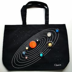 The solar system bag (with pin badge planets) スペース・バッグ - 【マニマニ】Maniacs manufacturing~マニアックス・マニファクチャリング~