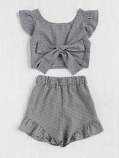 Shop Gingham Frill Trim Bow Tie Back Top With Shorts online. SheIn offers Gingham Frill Trim Bow Tie Back Top With Shorts & more to fit your fashionable needs.