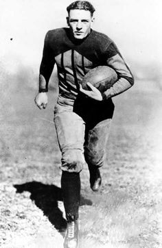 "Red Grange (1903 - 1991) Hall of Fame Professional Football Player. Nicknamed the ""Galloping Ghost"", he was considered by many as being the first true star player promoted by the National Football League."