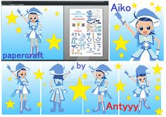 Aiko (Ojamajo Doremi) papercraft by Antyyy.deviantart.com on @DeviantArt