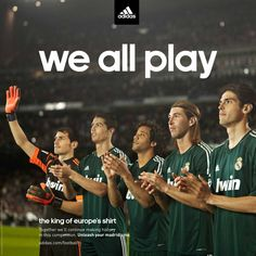 Adidas Real Madrid We all play on Behance