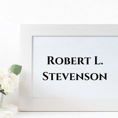 Robert Louis Stevenson (born Robert Lewis Balfour Stevenson; 13 November 1850 – 3 December 1894) was a Scottish novelist, poet and travel writer, most noted for Treasure Island, Kidnapped, Strange Case of Dr Jekyll and Mr Hyde, and A Child's Garden of Verses. In 2018 he was ranked, just behind Charles Dickens, as the 26th-most-translated author in the world. Robert L Stevenson, Jekyll And Mr Hyde, Treasure Island, Poet, Verses, Writer, November, Author, Garden