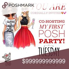 CO-HOSTING MY FIRST POSH PARTY ! THEME TO BE ANNOUNCED   PLEASE JOIN ME❣️ RSVP BELOW   BRING YOUR PFF's   ONLY POSH COMPLIANT CLOSETS WILL BE CONSIDERED FOR A HOST PICK. LETS DO THIS   PLEASE NOT SHARE TO MY CLOSET POSH PARTY Shoes
