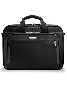 Briggs and Riley Work Luggage Medium Brief Black ** You can find out more details at the link of the image. (This is an affiliate link) Luggage Brands, Luggage Store, Luggage Sets, Briggs And Riley, Luggage Accessories, Best Handbags, Messenger Bag Men, Back Strap, Online Bags