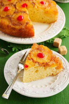 Pineapple Upside Down Cake Recipe best along with #VanillaIcecream #HolidayParties