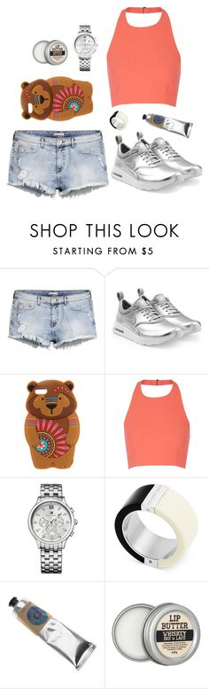 """Untitled #2044"" by moria801 ❤ liked on Polyvore featuring H&M, NIKE, claire's, Elizabeth and James, Tommy Hilfiger, Michael Kors and L'Occitane"