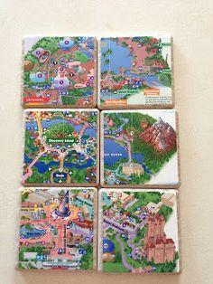 Merryweather's Cottage: DIY Disney Map Coasters