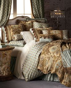 "The opulent bed linens. Reminded me of Marie Antoinette as is it should, it's called ""Petit Trianon""  Horchow."