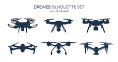 Design pack featuring six drone silhouette designs. Use this Royalty-free silhouette pack for personal or Commercial use, including Freelance design and busines Drones, Cute Pikachu, Layout Template, Create A Logo, Printed Materials, Silhouette Design, Layout Design, Illustration, Artwork
