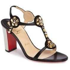 Women's Christian Louboutin Kaleitop Embellished Block Heel Sandal