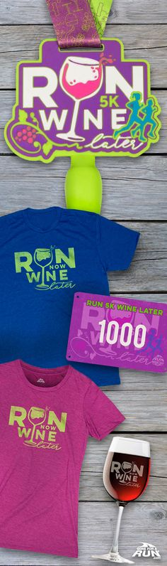 Run 5K now.... Wine later!! This Virtual Race is perfect for any dedicated runner and wine junkie! Run this virtual 5 K strong and celebrate with your favorite glass of wine!