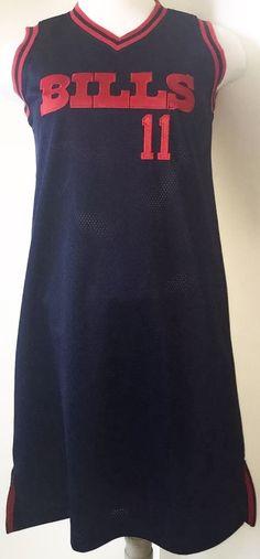 Adult Buffalo Bills Jersey Dress Drew Bledsoe #11 Sz M NFL Football Reebok Rare #Reebok #ShirtDress #Casual