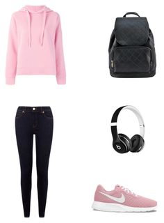 A fashion look from January 2018 featuring hooded pullover, feather jacket and blue slim fit jeans. Browse and shop related looks. Beats By Dr, Fasion, Fashion Looks, Pullover, Nike, Polyvore, Jackets, Shopping, Style