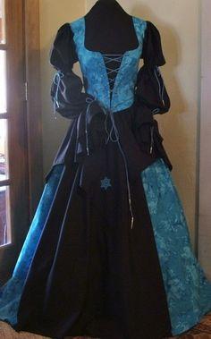 Celtic Wench Gypsy Pirate Renaissance Medieval Dress Bodice Halloween Costume | eBay