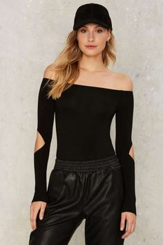 Cut It Fine Off-the-Shoulder Bodysuit