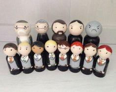 Harry Potter Peg Doll Set by KilbyCreations on Etsy