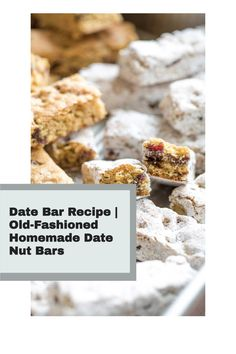 Dating back more than half a century ago, this Date Bar recipe was a Christmastime treat on the Ohio farm where my mother grew up. They're a special, old-fashioned cookie for the holidays – but honestly, we love them so much that we make them all year 'round. They're super-easy and freezable, too, so you can always keep a stash on hand! Paleo Vegan, Vegan Food, Vegan Recipes, Date Nut Bars, Healthy Christmas Recipes, How Sweet Eats, Dessert Recipes, Desserts, Kitchen Recipes