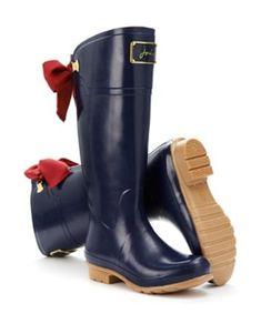 High Evedon Red Bow Rain Boots | Liv