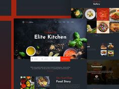 UnoPie- Design Agency designed by Aziz Mostoba for UnoPie. Connect with them on Dribbble; the global community for designers and creative professionals. Restaurant Website Design, Restaurant App, Web Ui Design, Design Agency, Creative Design, Design Inspiration, Kitchen, Cooking, Kitchens