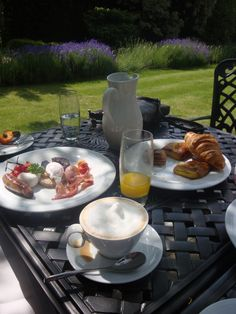 English breakfast, English garden, Italian coffee.