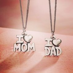 I love mom - I Love Mom and Dad Charms jamesavery Love My Parents Quotes, Happy Kids Quotes, Mom And Dad Quotes, Daughter Love Quotes, I Love My Parents, Quotes Children, Happy Children, Father Quotes, Love U Papa