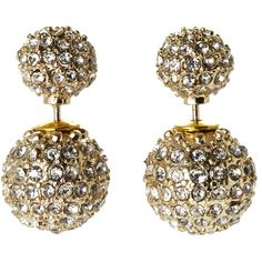 ROBERT ROSE Gold-Tone 360 Double-Sided Accent Stud Earrings ($13) ❤ liked on Polyvore featuring jewelry, earrings, studded jewelry, stud earring set, gold tone earrings, two sided earrings and stud earrings