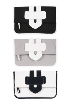 Today's Hot Pick :Vivid Clutch Flap Bag http://fashionstylep.com/SFSELFAA0022639/insang1en/out Everything that you need for your date with your friends can fit inside this handy clutch bag. Carry this and wear playful romper and sneakers for a fun day ensemble. - Zipper closure - Flap design with contrast color arrow detail - Contrast color piping - Remouvable and adjustable shoulder strap - Available color(s): Gray, Green, Red, Black, Blue, Ivory, Pink