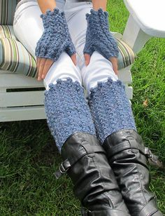 Free Crochet Patterns For Boot Covers : Ravelry: Boot Cuffs & Wrist Warmers pattern by Sarah Punderson