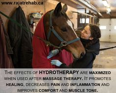 The effects of hydrotherapy are maximized when used after massage therapy. It promotes healing, decreases pain and inflammation and improves comfort and muscle tone.